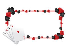 Poker frame Royalty Free Stock Photo