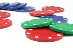 Poker gå i flisor royaltyfri bild