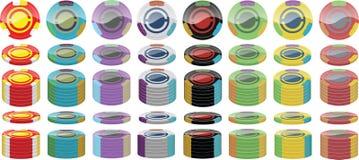 Poker gå i flisor packen Arkivbild