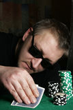 Poker Gambler Royalty Free Stock Photography