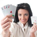 Poker gambler Royalty Free Stock Photo