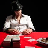 Poker gambler Stock Photography