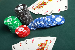 Poker Gambling Stock Images