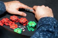 Poker Card Game Gambling Hand Stock Photos