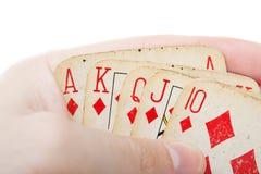 Poker gambling royal flush Royalty Free Stock Images