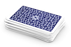 Poker Game. Deck of playing cards isolated over a white background royalty free stock photo