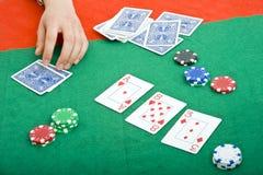 Poker game Royalty Free Stock Photos