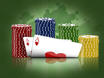 Poker game Royalty Free Stock Photo