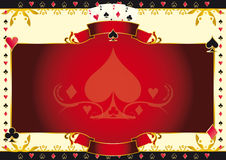 Poker game ace of spades horizontal background Stock Image