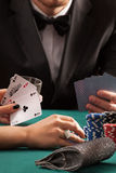 Poker game in casino Stock Photos