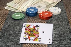 Poker game combinations. As background Royalty Free Stock Image