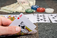 Poker game combinations. As background Stock Images