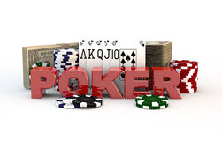 Poker game concept Royalty Free Stock Photography