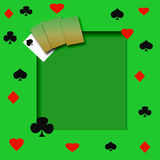Poker game frame Royalty Free Stock Images