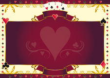 Poker game heart horizontal background Royalty Free Stock Image