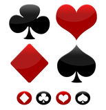 Poker game icons Stock Photo