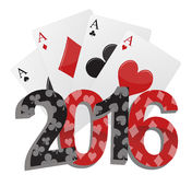 2016 poker game Stock Photos