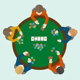 Poker game people Stock Images