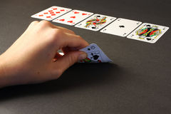Poker game - royal flush Royalty Free Stock Photos