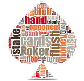 Poker game words concept Royalty Free Stock Images