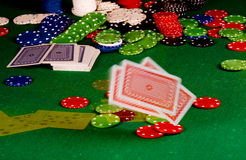 Poker gear Royalty Free Stock Images
