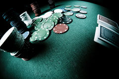 Poker gear fisheye look Stock Photo