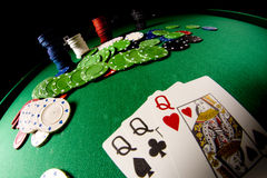 Poker gear fisheye look Stock Photography