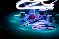 Poker gear light impression Royalty Free Stock Image
