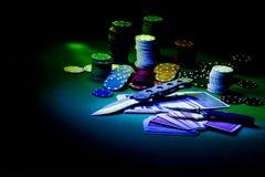 Poker gear light impression Stock Image