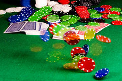 Poker gear motion Royalty Free Stock Photos