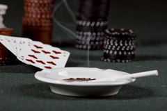 Poker gear vintage Royalty Free Stock Photography