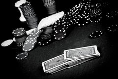 Poker Gear Vintage Colors Royalty Free Stock Photography