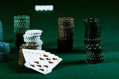 Poker gear vintage colors Stock Photography