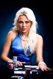 Poker girl Stock Photo