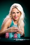 Poker girl Stock Image