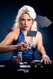 Poker girl Stock Photos