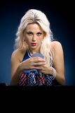 Poker girl Royalty Free Stock Photos