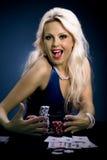 Poker girl Stock Photography