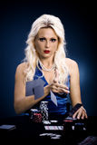 Poker girl Stock Photography