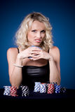 Poker girl Royalty Free Stock Photo