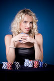 Poker girl Royalty Free Stock Images