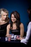 Poker girl Stock Images