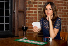 Poker girl Royalty Free Stock Photography