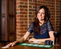 Poker girl Royalty Free Stock Photo
