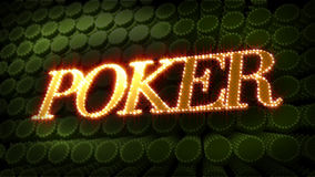Poker - Glitter Sparkle Text stock video footage