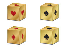 Poker golden dice  Royalty Free Stock Photography