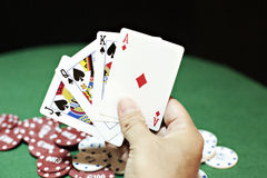Poker good hand Royalty Free Stock Image