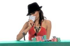 poker gracza, sexy zdjęcia stock