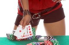 poker gracza, sexy Obrazy Royalty Free