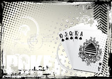 Poker grunge background Royalty Free Stock Photos